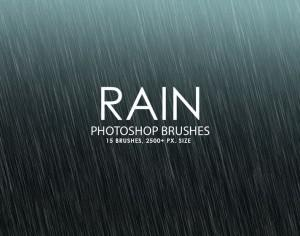 Free Rain Photoshop Brushes Photoshop brush