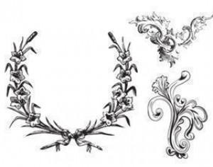 Free Leafy Frames and Ornament Brushes Photoshop brush