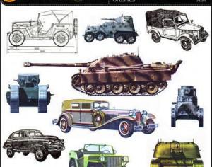 Military equipment Set 1 – Trucks, cars, tanks Photoshop brush