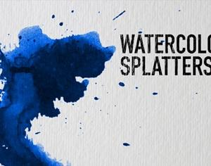Watercolor Splatters Photoshop brush