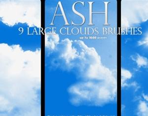 9 HQ Cloud Brushes Photoshop brush