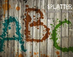 26 Alpha Splatter PS Brushes abr vol.7 Photoshop brush