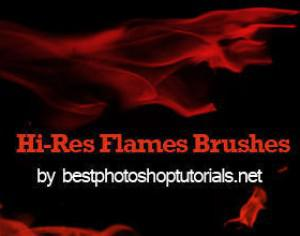 Hi-Res Flame Brushes Photoshop brush
