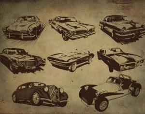 Free Retro Style Car Brushes Photoshop brush