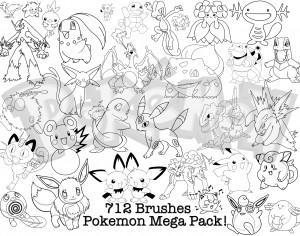 Huge Pack of Pokemon Brushes Photoshop brush