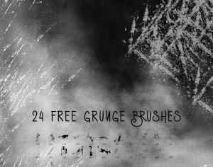24 Free Grunge Brushes Photoshop brush