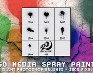 Go Media Spray Paint Photoshop brush