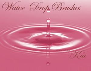 Water Drops Photoshop brush