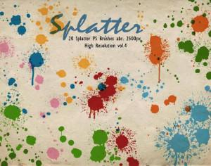 20 Splatter PS Brushes abr.vol.4 Photoshop brush