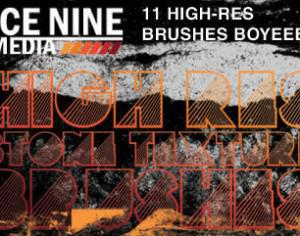 Ice Nine Media High-Res Stone Texture Brushes Photoshop brush
