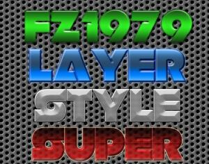 Super pack layer style 4 Photoshop brush