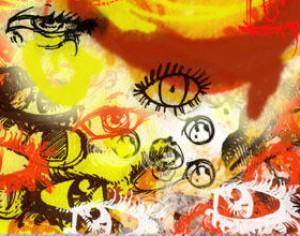 doodle eyes and circles Photoshop brush