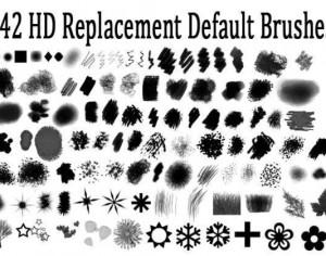 Hi Def Replacement Default Photoshop Brush Set Photoshop brush