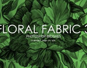 Free Floral Fabric Photoshop Brushes 3 Photoshop brush