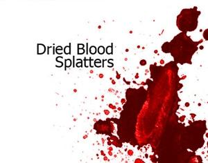 Dried Blood Splatters Photoshop brush