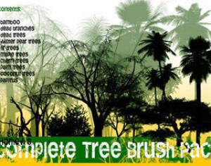 Complete Tree Brush Pack Photoshop brush