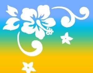 Tropical Flowers Photoshop brush