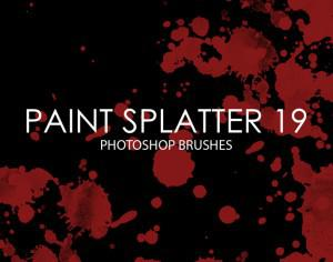 Free Paint Splatter Photoshop Brushes 19 Photoshop brush