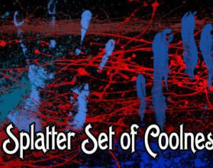 Splatter Sets of Coolness Photoshop brush