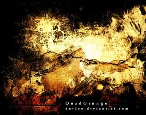 Quad Grunged Photoshop brush