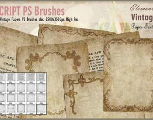 Vintage Papers PS Brushes abr. Photoshop brush