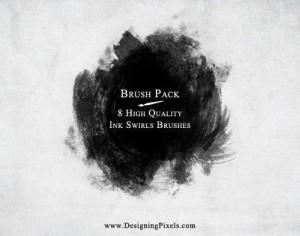 Ink Swirls Brush Pack Photoshop brush