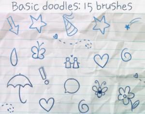 Basic Doodles Brushes Photoshop brush