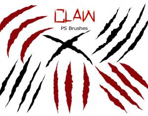 20 Claw Scratch PS Brushes ABR. vol.5 Photoshop brush