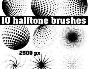 Halftone Brush Pack Photoshop brush