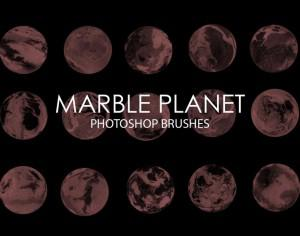 Free Marble Planet Photoshop Brushes Photoshop brush