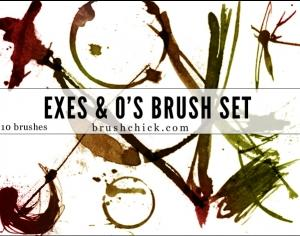 Exes & O's Photoshop brush