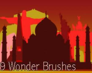 9 Wonders of the World Brushes Photoshop brush