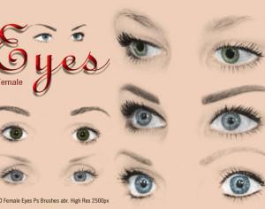 20 Female Eyes Ps Brushes abr. vol.5 Photoshop brush