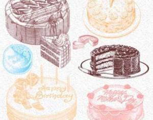 Delicious Bakery Cakes Brushes Photoshop brush