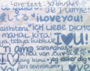 Love Text Brushes Photoshop brush