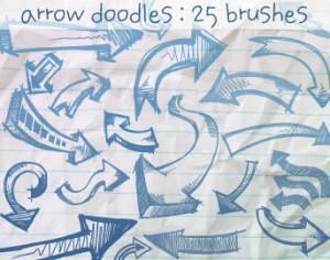 Arrow Doodles Brushes Photoshop brush