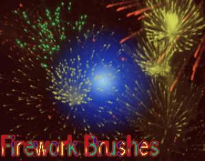 10 Firework Brushes Photoshop brush