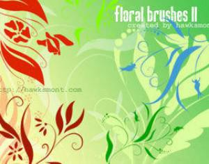 Floral Brushes II by hawksmont Photoshop brush