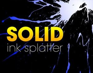 Solid Ink Splatter Photoshop brush