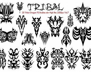 Tribal PS Brushes Vol.7 Photoshop brush