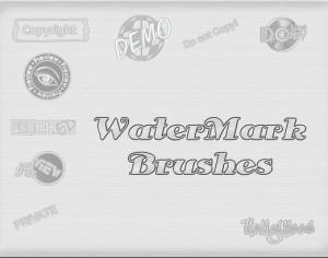 WaterMark Brushes Photoshop brush