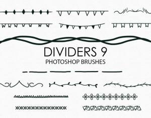 Free Hand Drawn Dividers Photoshop Brushes 9 Photoshop brush