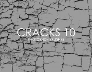 Free Cracks Photoshop Brushes 10 Photoshop brush