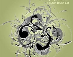 Flourished Brush Set Photoshop brush