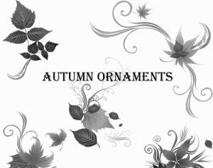 Autumn Ornaments Photoshop brush