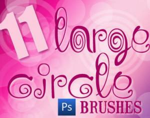 11 Large Circle Brushes Photoshop brush