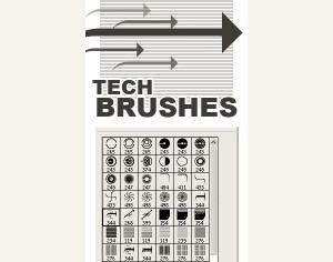 Tech Brush Mega Pack Photoshop brush