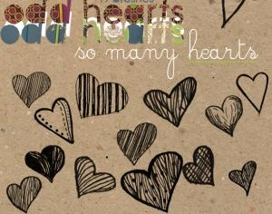 So Many Hearts Photoshop brush