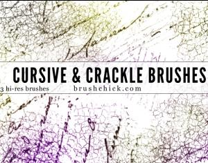 Cursive & Crackle Photoshop brush