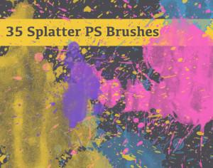 35 Free Splatter Brushes Photoshop brush